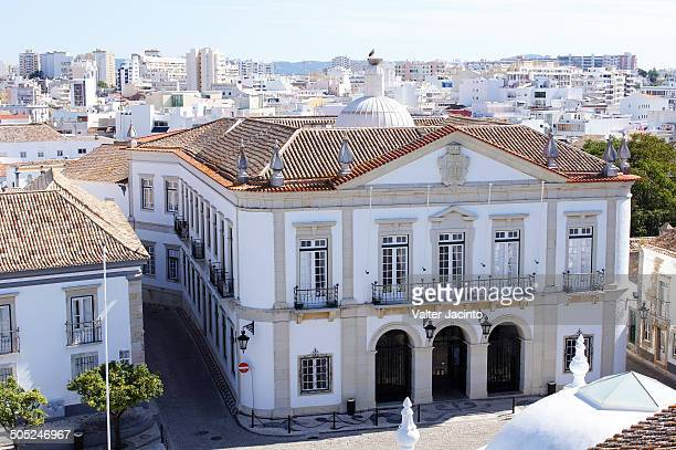faro city hall - faro city portugal stock photos and pictures