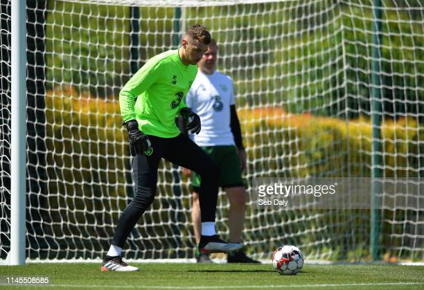 Faro Portugal 22 May 2019 Mark Travers during a Republic of Ireland training session at The Campus in Quinta do Lago Faro Portugal