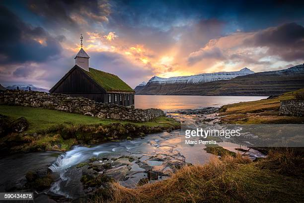 Faroe Church Sunrise