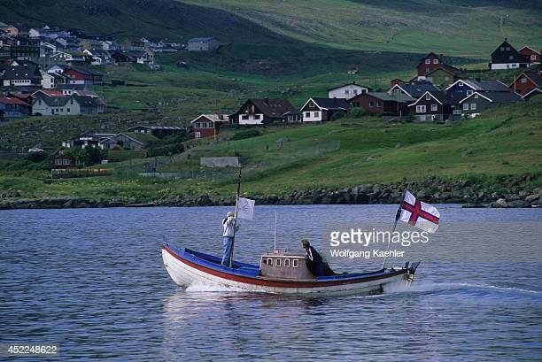 Faroe Islands Near Torshavn Fishing Boat