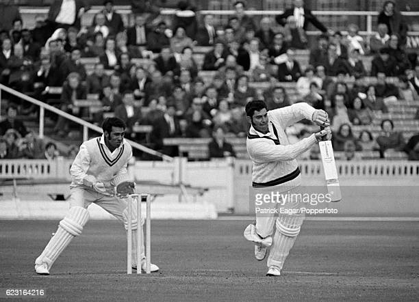 Farokh Engineer batting for Lancashire during the John Player League match between Lancashire and Nottinghamshire at Old Trafford Manchester 28th...