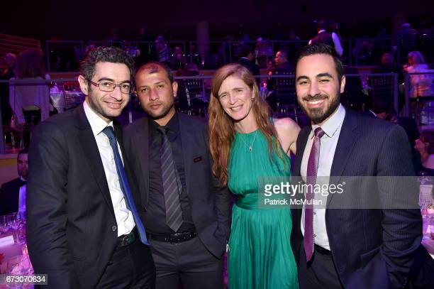Farooq Raed Saleh Samantha Power and Kenan Rahmani attend the 2017 TIME 100 Gala at Jazz at Lincoln Center on April 25 2017 in New York City