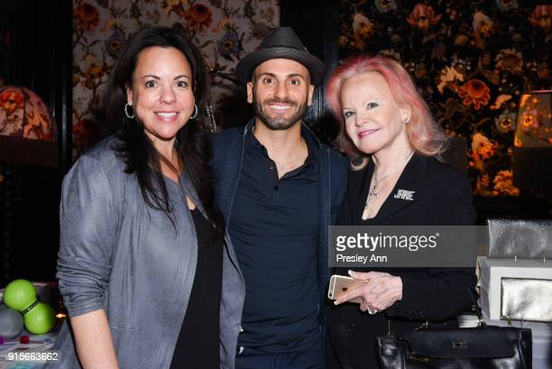 Farra Abrahamson Kinetic Therapy and Jane Pontarelli attend Leesa Rowland's Animal Ashram PopUp Penthouse on February 7 2018 in New York City