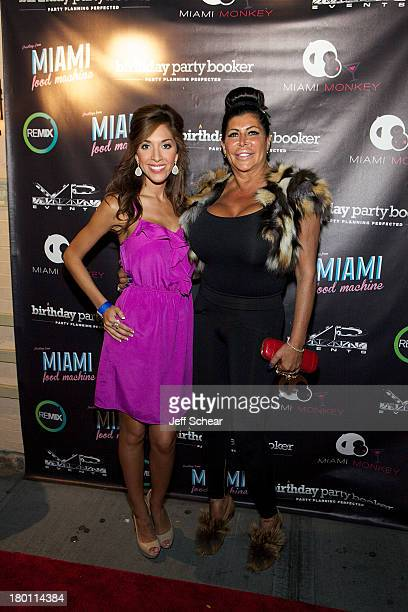 Farrah Abraham and Angela Big Ang Raiola attend the MIAMI MONKEY Premiere Party Presented By JustJenn Productions And The Weinstein Company at 49...