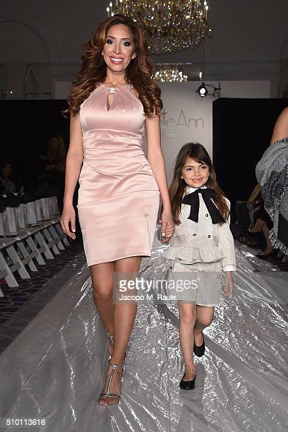 Farrah Abraham and her daughter Sophia Abraham attends Michelle Ann Kids Bound By the Crown Couture Children's Wear fashion show during Fall 2016 New...