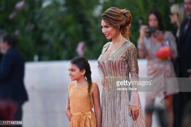 Farrah Abraham and Sophia Laurent Abraham attend J'Accuse premiere during the 76th Venice Film Festival at Sala Grande on August 30 2019 in Venice...