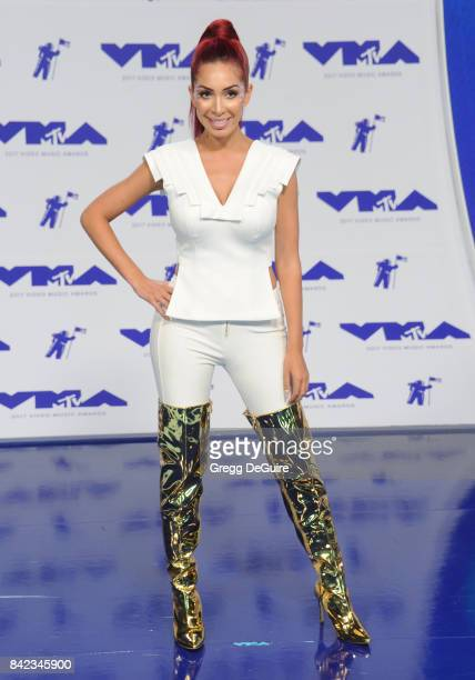Farrah Abraham arrives at the 2017 MTV Video Music Awards at The Forum on August 27 2017 in Inglewood California