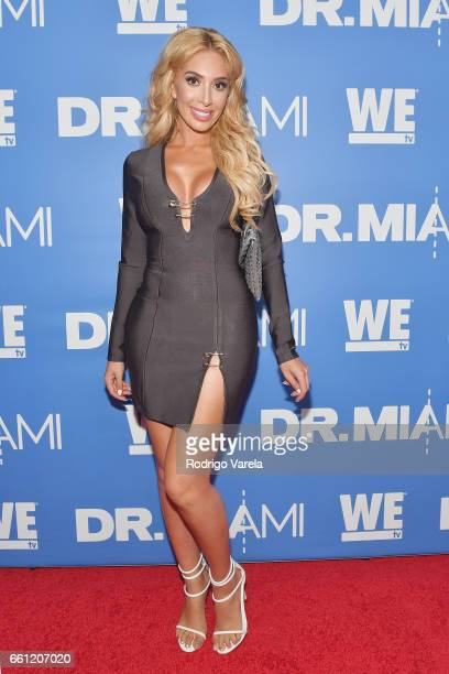 Farrah Abraham arrives at WE tv's Premiere Party for Their New Show Dr Miami at the Tuck Room in North Miami Beach on March 30 2017 in North Miami...