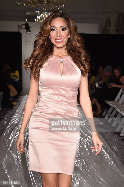Farrah Abraham attends Michelle Ann Kids Bound By the Crown Couture Children's Wear fashions show during Fall 2016 New York Fashion Week on February...