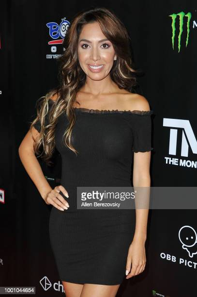 Farrah Abraham attends Monster Energy Outbreak $50K Charity Challenge celebrity basketball game at UCLA on July 17 2018 in Los Angeles California