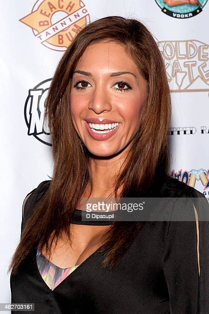 Farrah Abraham attends MTV's 'The Real World ExPlosion' Season Premiere Party at Bottomz Up Bar and Grill on January 14 2014 in New York City