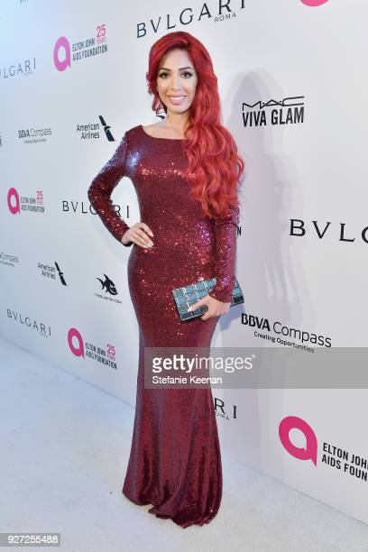 Farrah Abraham attends the 26th annual Elton John AIDS Foundation Academy Awards Viewing Party sponsored by Bulgari celebrating EJAF and the 90th...