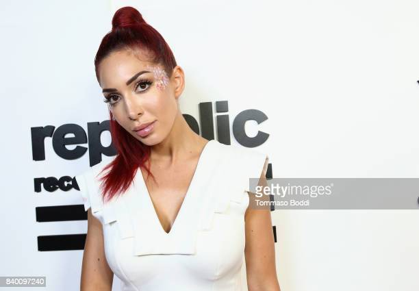Farrah Abraham attends the VMA after party hosted by Republic Records and Cadillac at TAO restaurant at the Dream Hotel on August 27 2017 in Los...