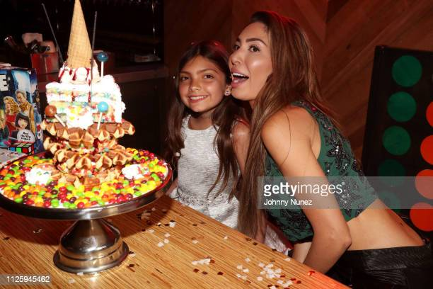 Farrah Abraham celebrates daughter Sophia's 10th birthday on February 19 2019 in New York City