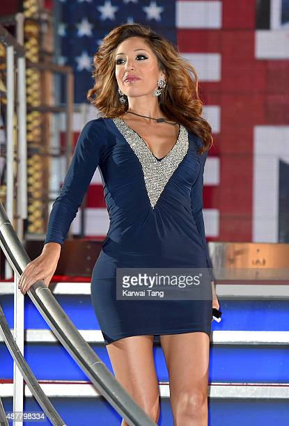 Farrah Abraham leaves the house during a fake eviction at the Big Brother house at Elstree Studios on September 11 2015 in Borehamwood England