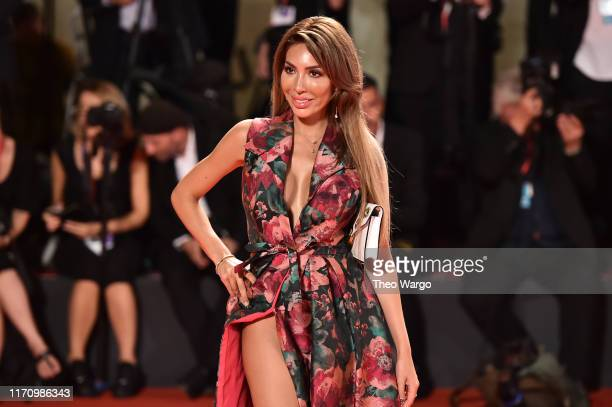 Farrah Abraham walks the red carpet ahead of the Ad Astra screening during the 76th Venice Film Festival at Sala Grande on August 29 2019 in Venice...