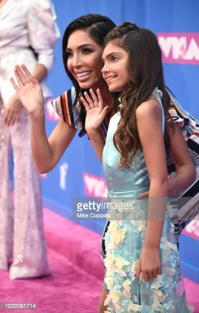 Farrah and Sophie Abraham attend the 2018 MTV Video Music Awards at Radio City Music Hall on August 20 2018 in New York City