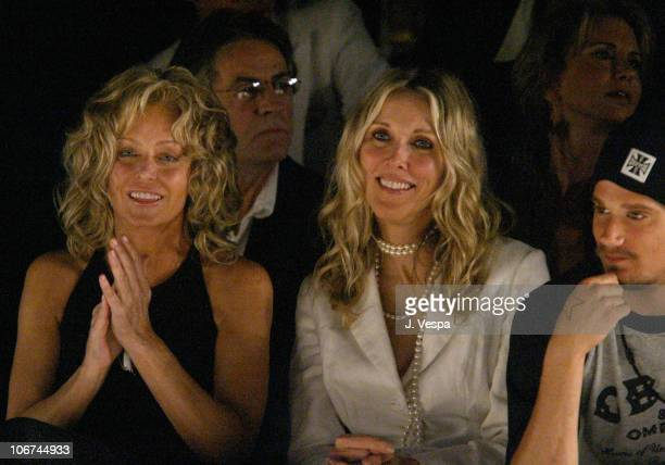 Farrah Fawcett and Alana Stewart during MercedesBenz Fall 2004 Fashion Week at Smashbox Studios Jenni Kayne Front Row at Smashbox Studios in Culver...