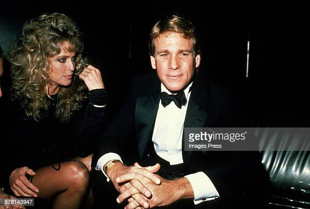 Farrah Fawcett and Ryan O'Neal circa 1981 in New York City.