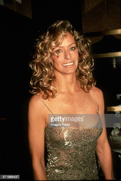 Farrah Fawcett attends the New York Premiere of Chances Are circa 1989 in New York City