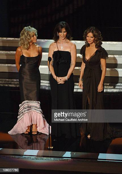 Farrah Fawcett Kate Jackson and Jaclyn Smith during Aaron Spelling tribute