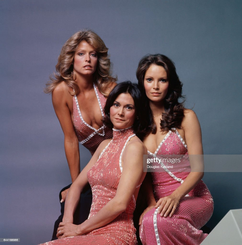 Farrah Fawcett (left), Kate Jackson (center), and Jaclyn Smith star in the popular 1970s television show Charlie's Angels. Jackson plays the role of Sabrina Duncan, Fawcett plays Jill Munroe, and Smith plays Kelly Garrett.