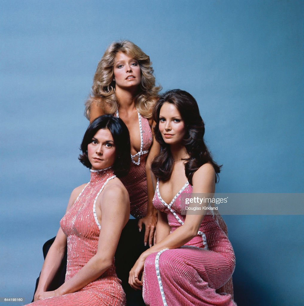 Farrah Fawcett (center), Kate Jackson (left), and Jaclyn Smith star in the popular 1970s television show Charlie's Angels. Jackson plays the role of Sabrina Duncan, Fawcett plays Jill Munroe, and Smith plays Kelly Garrett.