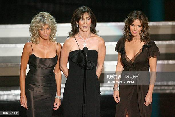 Farrah Fawcett Kate Jackson and Jaclyn Smith the Charlie's Angels appear for the Aaron Spelling Tribute