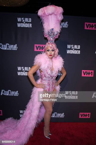 Farrah Moan attends 'RuPaul's Drag Race' Season 9 Premiere Party Meet The Queens Event at PlayStation Theater on March 7 2017 in New York City