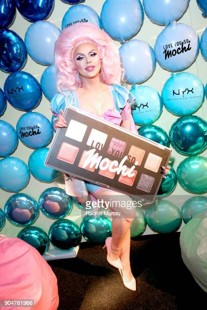 Farrah Moan @farrahrized attends NYX Professional Makeup Presents 'Love You So Mochi' at Elevate Lounge on January 13 2018 in Los Angeles California