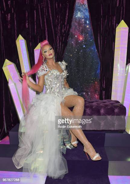 Farrah Moan poses for portrait at the 4th Annual RuPaul's DragCon at Los Angeles Convention Center on May 12 2018 in Los Angeles California