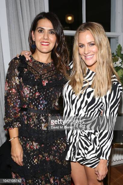 Farrah Storr and Caroline Flack attend the launch of new book The Discomfort Zone by Farrah Storr Cosmopolitan EditorinChief at The AllBright Club on...
