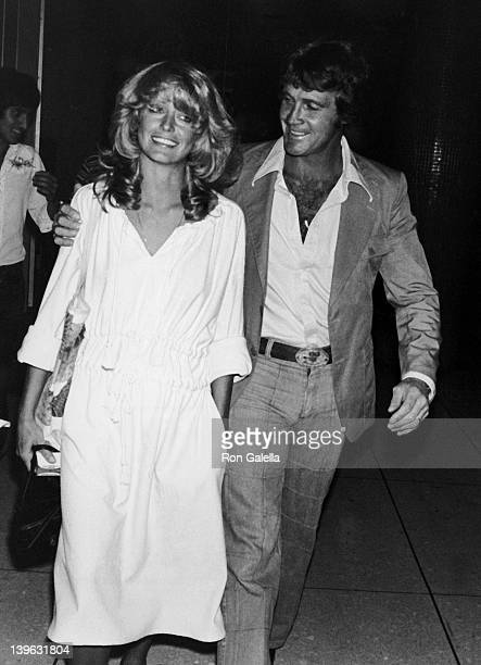 Farraw Fawcett and Lee Majors sighted on June 10, 1977 at the Los Angeles International Airport in Los Angeles, California.