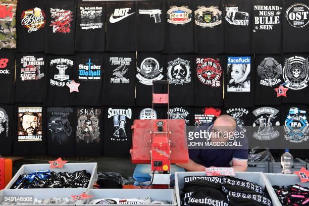 Farright paraphernalia is on sale at the  Schild und Schwert  neonazi  festival in the f9817f5283