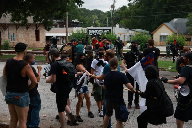 GA: Far Right Groups Hold Rally Over Stone Mountain's Confederate Memorial, As Anti-Racist Activists Counter Protest