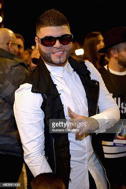 Farruko attends Univision's Premios Juventud 2015 at Bank United Center on July 16 2015 in Miami Florida