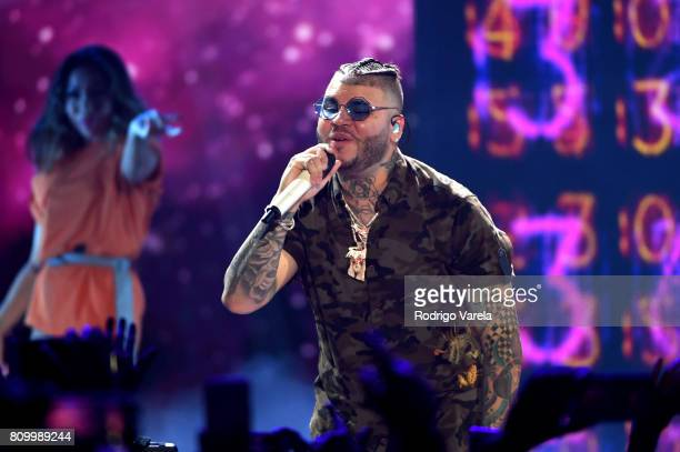 Farruko performs on stage during Univision's 'Premios Juventud' 2017 Celebrates The Hottest Musical Artists And Young Latinos ChangeMakers at Watsco...