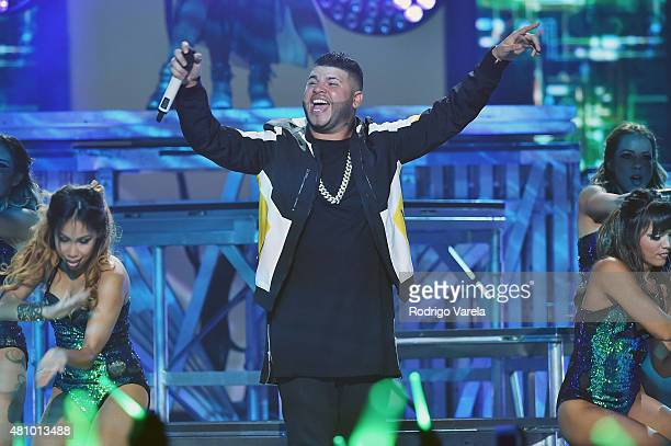 Farruko performs onstage at Univision's Premios Juventud 2015 at Bank United Center on July 16 2015 in Miami Florida