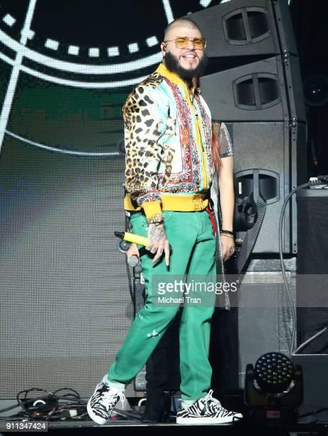 Farruko performs onstage during Calibash Las Vegas at TMobile Arena on January 27 2018 in Las Vegas Nevada