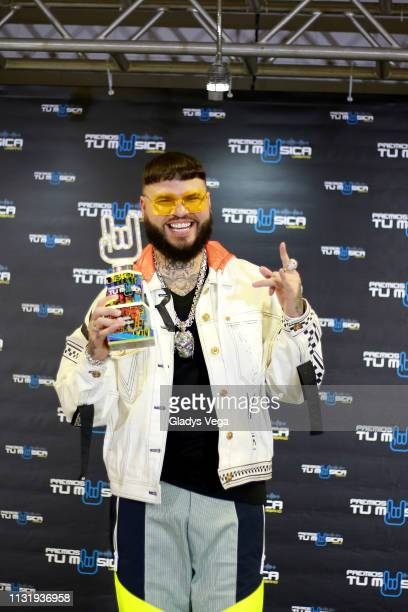 Farruko receives Urban Pop Song Award as part of 2019 Premios Tu Musica Urbano at Coliseo Jose M Agrelot on March 21 2019 in San Juan Puerto Rico