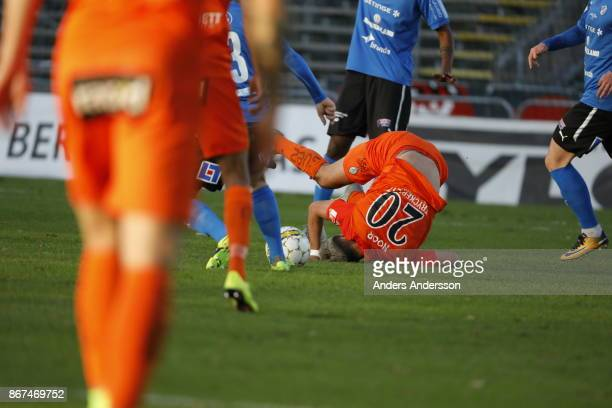 Farshad Noor of Athletic FC Eskilstuna during the Allsvenskan match between Halmstad BK and Athletic FC Eskilstuna at Orjans Vall on October 28 2017...