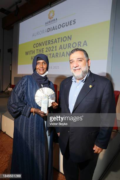 Fartuun Adan, 2020 Aurora Prize Laureate and Somali social activist and Ruben Vardanyan Aurora Humanitarian Initiative Co-Founder; Co-Founder Noôdome...