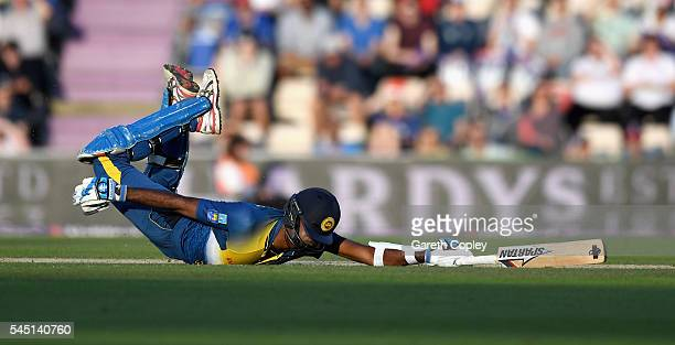 Farveez Maharoof of Sri Lanka makes his ground during the Natwest International T20 match between England and Sri Lanka at Ageas Bowl on July 5 2016...