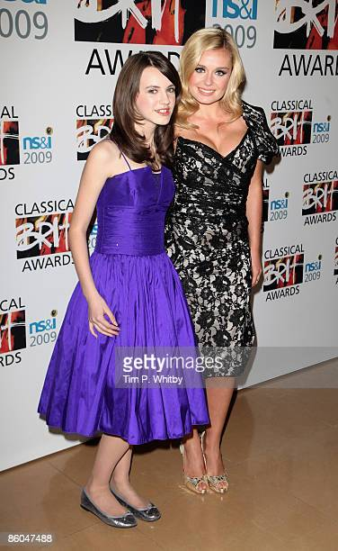 Faryl Smith and Katherin Jenkins arrive for The Classical Brit Awards Nominations Launch at The Mayfair Hotel on April 20 2009 in London England