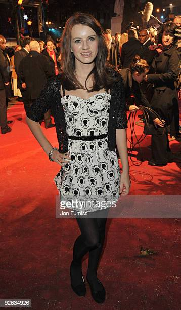 Faryl Smith attends the World Premiere of 'A Christmas Carol' at the Odeon Leicester Square on November 3 2009 in London England