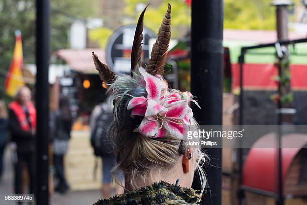 fascinated by camden - fascinator stock pictures, royalty-free photos & images