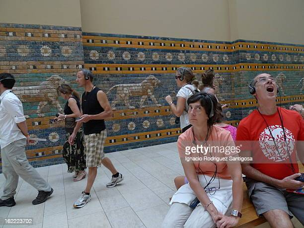 Fascinates people in one of the rooms of the Pergamon Museum, Berlin.
