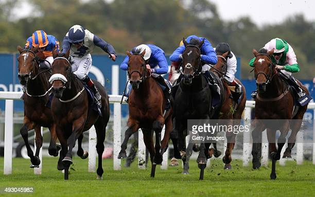 Fascinating Rock and Pat Smullen win The QIPCO Champion Stakes during the QIPCO British Champions Day at Ascot Racecourse on October 17 2015 in Ascot...