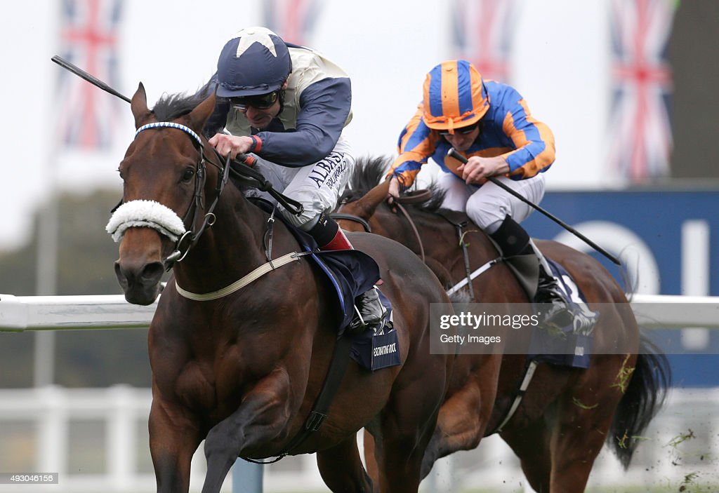 Fascinating Rock and Pat Smullen win The QIPCO Champion Stakes during the QIPCO British Champions Day at Ascot Racecourse on October 17, 2015 in Ascot, England.