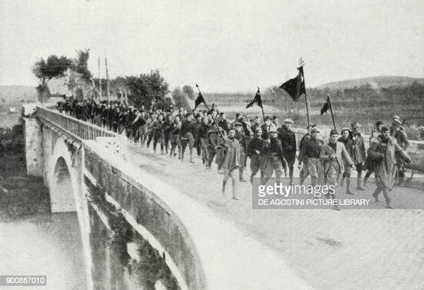 Fascist column on Salario bridge Rome March on Rome Italy from L'Illustrazione Italiana Year XLIX No 45 November 5 1922